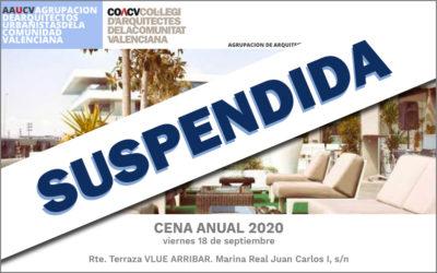 """Cena Anual de la Agrupación 2020 """"SUSPENDIDA"""""""